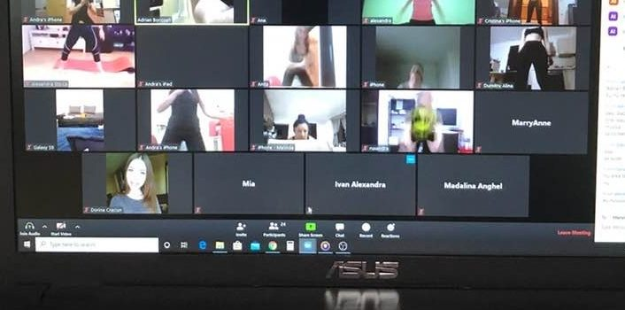 Antrenamente online. Ce săli și antrenori (individual) țin clase live