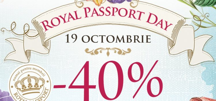 "19 octombrie – o nouă ""Royal Passport Day"" la Sabon cu 40 % reducere!"