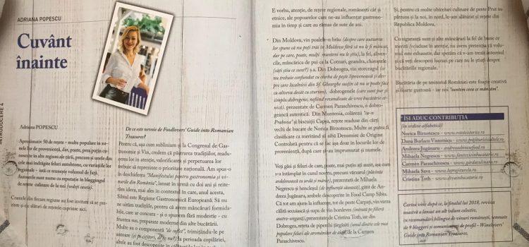 Foodlovers Guide into Romanian Treasures – volum colectiv de rețete regionale